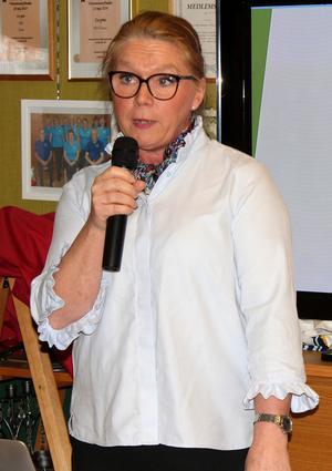 Inga-Britt Brage är ordförande för PRO i Ösmo. Foto: Ulla Laiho