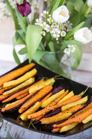 Ugnsrostade morötter, tricolor