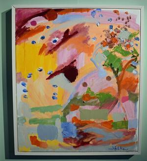 """""""Vårträd"""" av Helen Rabnor."""