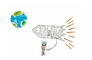 Den första rymdraketen sköts upp 1942 och  det ör
