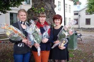 Karin Hellqvist, Karin Kåks och Ellinor Fritz fick ta emot hederspris från Hedemora kommun för sina kulturella insatser.