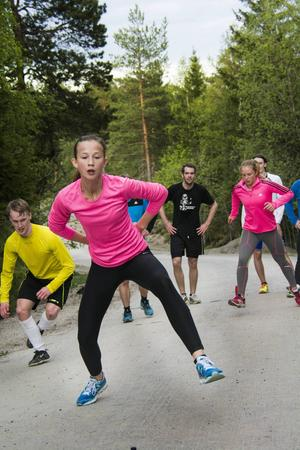 Bergsåkers Badmintonklubb och Selånger Bandy tränar försäsongsträning tillsammans.