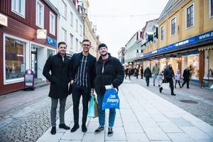 Kompisgänget och hemvändarna Jonathan Hilli, Viktor Andersson och Johannes Edblad.