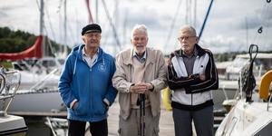 Hans Fröbom yngst i klassen på 85 år tillsammans med Sten-Åke Lundin, 89 år och Allan Carlsson, 91 år.