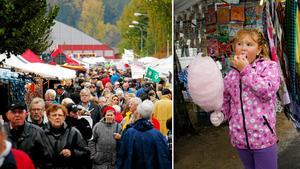 Rimbo höstmarknad är en av Sveriges största endagsmarknader. Foto: Anders Sjöberg
