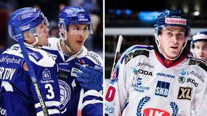 Jon Knuts (till vänster) är tillbaka i LIF. Precis som Mattias Ritola och Anton Öhman. Oskarshamn ställer upp med samma lag som senast. Foto: Bildbyrån