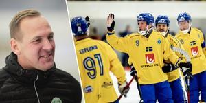Michael Carlsson är ny förbundskapten för det svenska herrlandslaget. Samtidigt ska han fortsätta som tränare i VSK.