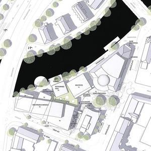 Kulturkvarteret ryms i triangeln inom Nygatan. Fabriksgatan och Svartån. Även Konserthuset och nuvarande riksbankshuset knyts samman med de nya huskropparna som ska rymma bibliotek, kulturskola, estetprogram, multiscen och en restaurang. Källa: Örebro kommun