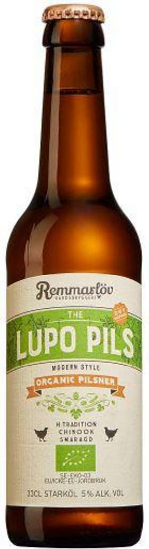 Remmarlöv The Lupo Pils Organic Pilsner.