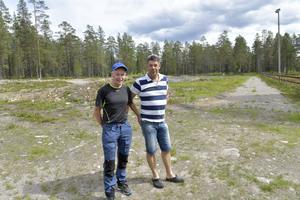 Sven Larsson och Martin Olsson, två i arrangörsstaben av Fäbodloppet i Särna som körs för femte gången på söndag