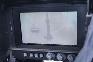 Sittliftar i Åre filmade från tre kilometers avstånd.