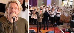 Tommy Nilsson gav två konserter i Norrtälje kyrka tillsammans med Mariakören, under ledning av Daniel Edoff.