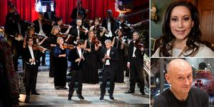 Senast Svenska kammarorkestern var Nobelorkester var 2016, nu gör de om prestationen. Den här gången i samarbete med Hans Ek, Lisa Nilsson och Magnus Carlson.  Foto: Jonas Ekströmer / TT / Sofia Gustafsson (bilden är ett montage)
