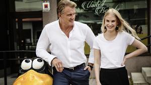 Dolph Lundgren och Julia Jensen Ivegren möttes under fredagen.