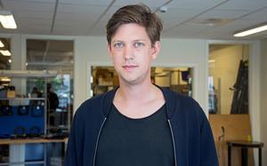 """Kristoffer Berglund, 30, har hunnit med en hel del sedan han lämnade Långsele. """"Ett år är långt, man hinner mycket"""", säger han."""