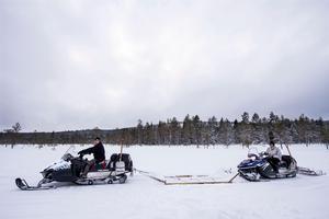Spårmakarna Johan Andersson och Hans-Erik Köhn. Bilden är från februari 2018.