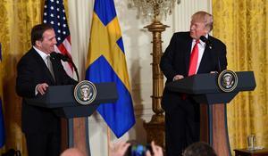 Stefan Löfven gästade nyligen USA:s president Donald Trump. Bild: Susan Walsh/AP/TT