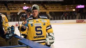 Debuterande Emil Kruse räddade allt och hade dessutom stolpen med sig i debuten för SSK. Bild: Anna Svedberg.
