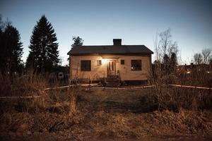 Huset som Therese Palmkvist bodde i.