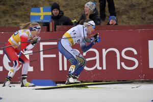 Ebba Andersson hade extremt snabba skidor.
