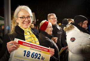 """""""Det blir en bra jul"""", sa Carina Sund, en av vinnarna."""