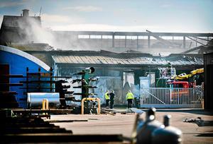 Förödelsen efter branden i maj 2017. Det var en av Sveriges större industribränder under de senaste åren.