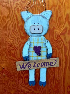 Välkommen in till grisarna!
