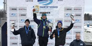 Gustav Salomonsson, Team Walles, tog en fin tredjeplats i skotercross-EM.