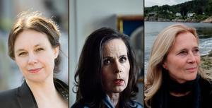 Författare, inte bara före detta Akademie-ledamöter: Stridsberg, Danius, Frostenson.Foto: TT/Fredrik Wandrup