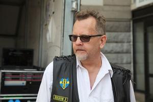 Bosse Rydberg på Särling MC är med och arrangerar motorcykelutställningen.