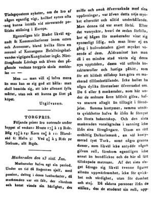 VLT, sidan 2, från torsdagen den 10 februari 1831.