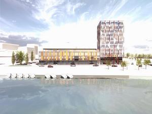 Så här är det tänkt att Tullhuset ska se ut enligt arkitekt Göran Westman. Illustration: GWSK Arkitekter AB