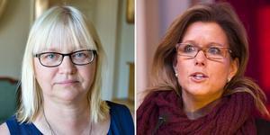 Helene Åkerlind, L, och Åsa Wiklund Lång, S, tycker att partiledarna borde släppa prestigen i förhandlingarna om regeringsmakten.