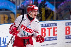 Johan Johnsson jublar vidare i karriären, nu i HV71. Bild: Andreas Sandström/Bildbyrån