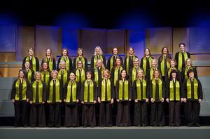 Kören Confetti ger konsert på söndag i Elimkyrkan till förmån för den nya konsertsalen på Alnön. Bild: Kristofer Lönnå