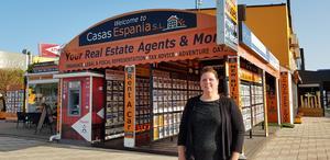 Claire Harverson, fastighetsmäklare på Casas Espania.