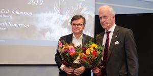 Kenneth Bengtsson, styrelseordförande för Clas Ohlson och Lyko, och Nils-Erik Johansson, styrelseordförande för Leksand Resort, nominerades Årets guldklubba 2019, för Dalarnas del.