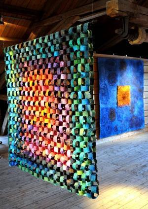 Levande papper. Verk av textilkonstnären Inger Drougge-Carlberg, stipendiat i år.