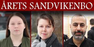 Vem blir Årets Sandvikenbo? Märta Dufvenberg, Jessica Andersson och Chia Abdolah är de tre kandidaterna.