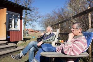 Olle Severin och Åsa Fogelström är de enda bofasta på Sundskär.