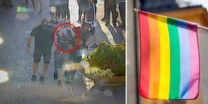 Civilpolisernas gripande av 24-åringen fångades på övervakningsfilm. Bild: Polisen