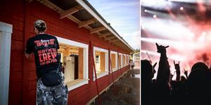 Volontärer från 22 nationer är med och hjälper till att fixa inför veckans hårdrocksfestival.