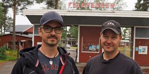 Magnus Henningsson, spindeln i nätet för Björnfesten och Pasi Lamminniemi, ordförande för Björnbergets Alpina, hälsar välkomna till årets upplaga av Björnfesten.