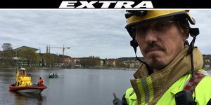 En privatperson hittat en död person i vattnet, enligt räddningsledare Lars Samuelsson.
