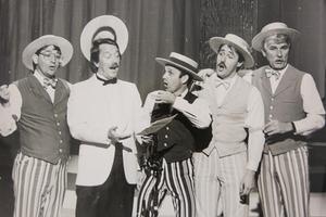 Ett gammalt Caprice-minne: The Dapper Dance från Los Angeles gästade vårkonserten och Kjell Lönnå 1984. Bild: Gunnar Almberg