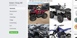 Butikens personal har lagt upp bilder på de stulna fordonen på butikens Facebooksida.