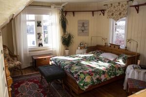 Det åttakantiga sovrummet uppe i