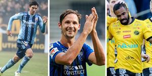 Besard Sabovic (Djurgården), Philip Haglund (Sirius) och Alex Dyer (Elfsborg) har alla utgående kontrakt.