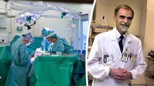Arkivbild på Jan-Olov Svensson (till höger), i dag pensionerad kirurg och klinikchef. Foto: Bertil Ericson/TT och Eva-Lena Olsson