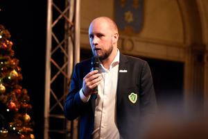 J-Södras kassör Viktor Friberg redogjorde för ekonomin.
